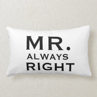 Couples Gay Mr Always Right Pillowcases Pillow