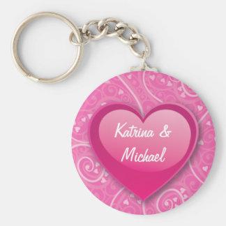 Couples Heart Keychain