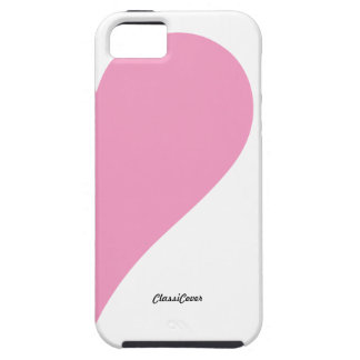 Couples Heart Pink White Left Case-Mate iPhone 5 Covers