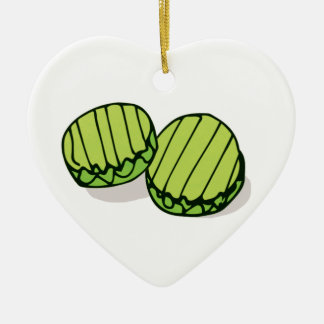 Couples' In a Pickle Together Personalized Ceramic Ornament