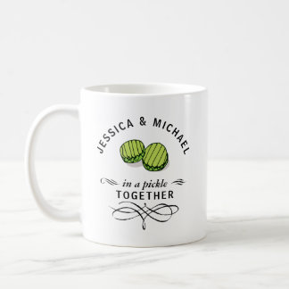 Couples' In a Pickle Together Personalized Coffee Mug