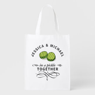 Couples' In a Pickle Together Personalized Reusable Grocery Bag