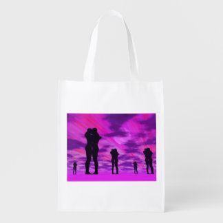 Couples in love - 3D render Reusable Grocery Bag