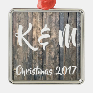 Couple's Initials Christmas Ornament