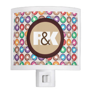 Couples Initials Closely Together Fun Circles Nite Lights