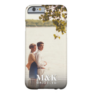 Couples Monogram Custom Photo Barely There iPhone 6 Case