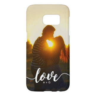 Couples Monogram LOVE Custom Photo Samsung Galaxy S7 Case