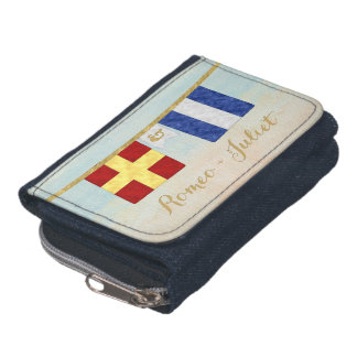 Couples Monogram Maritime Signal Flags Watercolor Wallets