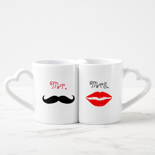 Couples Mr. & Mrs Lovers' Mug Set