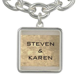 Couples Name Charm Bracelets