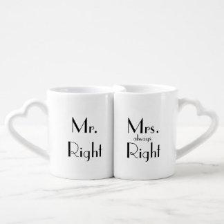 """Couples"" Nesting Mug Set Lovers Mug Sets"