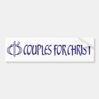 Couples pour l'adhésif pour pare-chocs du Christ Autocollant De Voiture