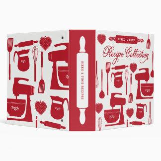 Couples Recipe Binder Kitchen Essentials Red