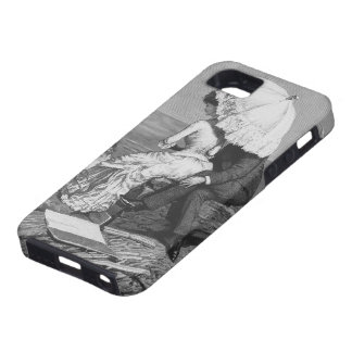 Couples romantiques victoriens vintages par la coque tough iPhone 5