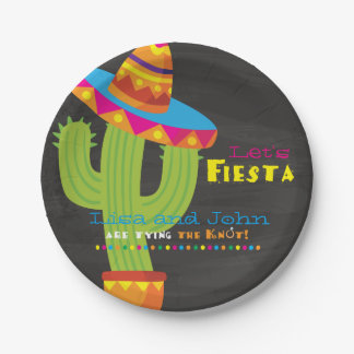 Couples Shower Fiesta Paper Plate