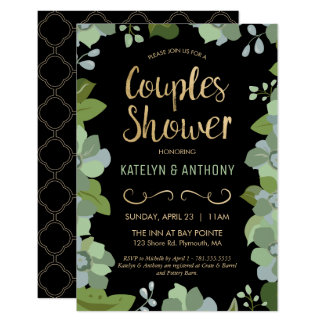 Couples Shower Invite - Gold, Elegant, Customized