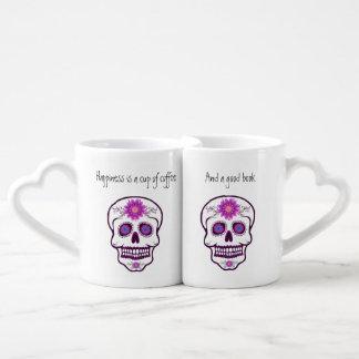 Couples ' Sugar Skull Book Lovers Mug Set
