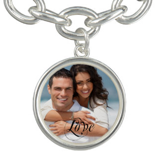 Couple's Sweetheart Photo Charm Bracklet