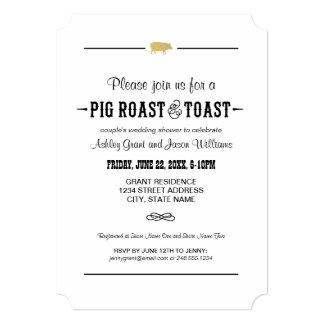 Couple's Wedding Shower | Pig Roast & Toast Card