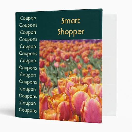 Coupon binder Smart shopper Couponing Tulip Flower