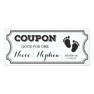 Coupon for one Niece or Nephew Baby Announcement