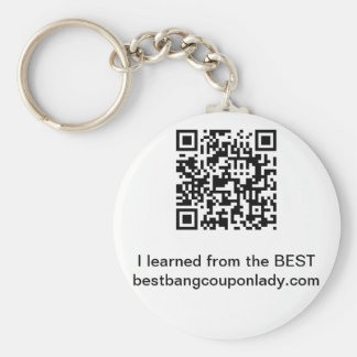 Coupon-I learned from the bestbangcouponlady.com Basic Round Button Keychain