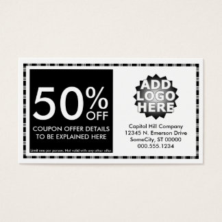 coupon layout business card
