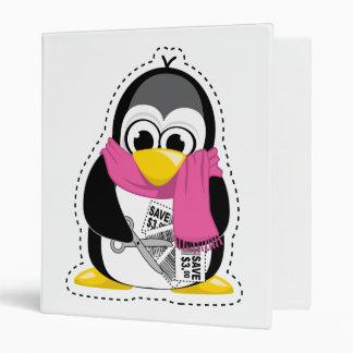 Coupon Penguin Vinyl Binder