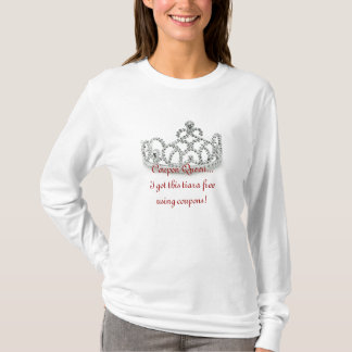Coupon Queen Long Sleeve Tee Shirt