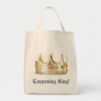 Couponing King Grocery Tote Bag