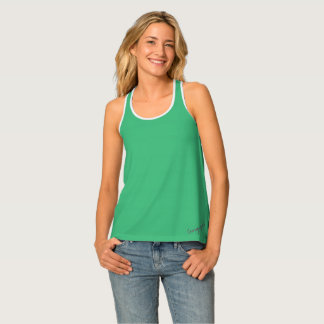 Courage by Faith racer back tank w floral accent