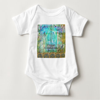 Courage Do not fall back JOAN OF ARC quote Baby Bodysuit