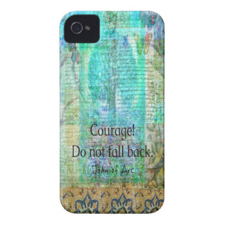 Courage Do not fall back JOAN OF ARC quote Case-Mate iPhone 4 Case