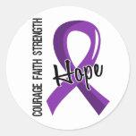 Courage Faith Hope 5 Epilepsy Round Stickers