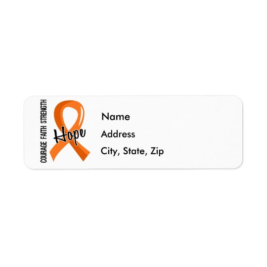 Courage Faith Hope 5 MS Return Address Label