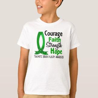 Courage Faith Strength Hope Traumatic Brain Injury T-Shirt