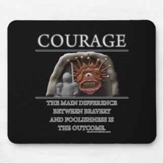 Courage Fantasy (de)Motivator Mouse Pad