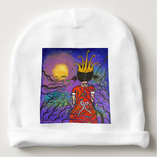 Courage Girl Wearing Crown Baby Beanie