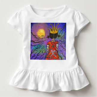 Courage Girl Wearing Crown Toddler Ruffle Tee