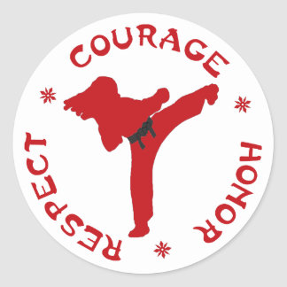 Courage Honor Respect Lady Stickers