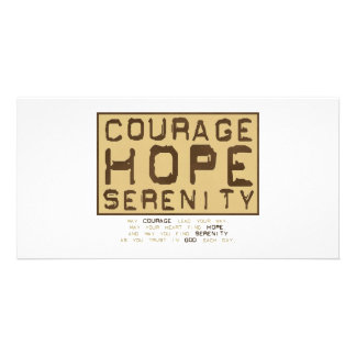 Courage Hope Serenity (1) Customized Photo Card