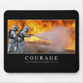 Courage: Inspirational Quote Mouse Pad
