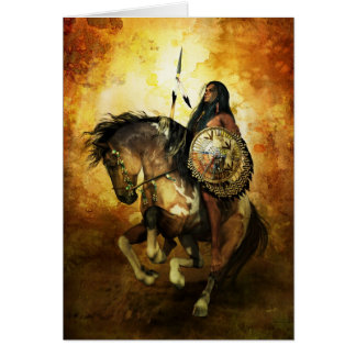 Courage Native American Card