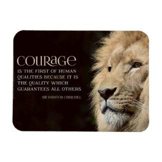 Courage Rectangular Photo Magnet