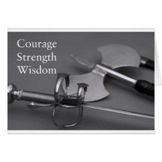 Courage Strength Wisdom Card