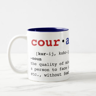 Courage Two-Tone Coffee Mug