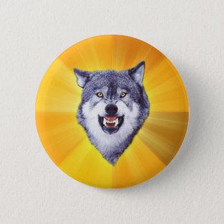 Courage Wolf Advice Animal Internet Meme 2 Inch Round Button