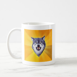 Courage Wolf Advice Animal Meme Coffee Mug