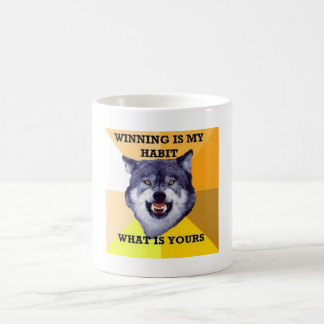 courage wolf classic white coffee mug