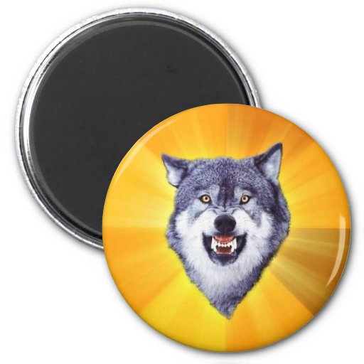 Courage Wolf Magnets